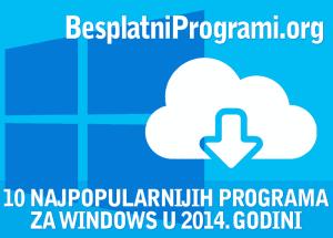 10 najpopularnijih besplatnih programa u 2013. godini