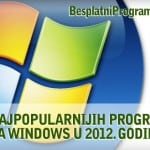 10 najpopularnijih besplatnih programa za Windows u 2012. godini