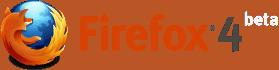 Firefox 4 Beta logo