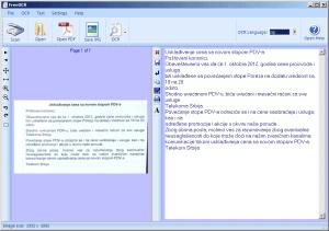 FreeOCR - program za skeniranje i prepoznavanje teksta