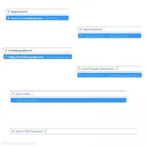 Prikaz Koriscenja Omnboxa za Pretrazivanje