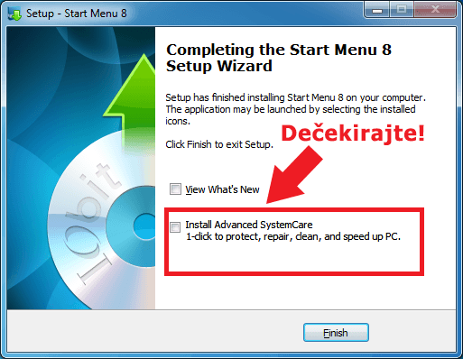Start menu 8 - instalacija