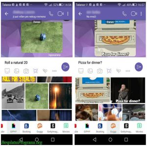 Viber Chat Extensions-GIF and Guppy
