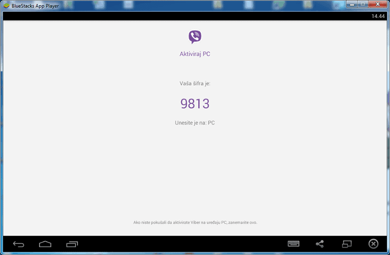 Viber - BlueStacks - aktivacioni kod