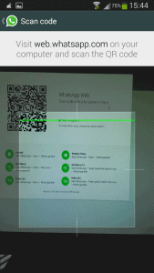 WhatsApp Web skeniranje QR koda