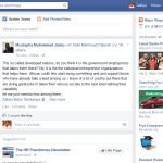 Facebook news feed - print screen