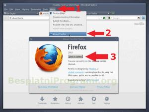 Firefox updejt