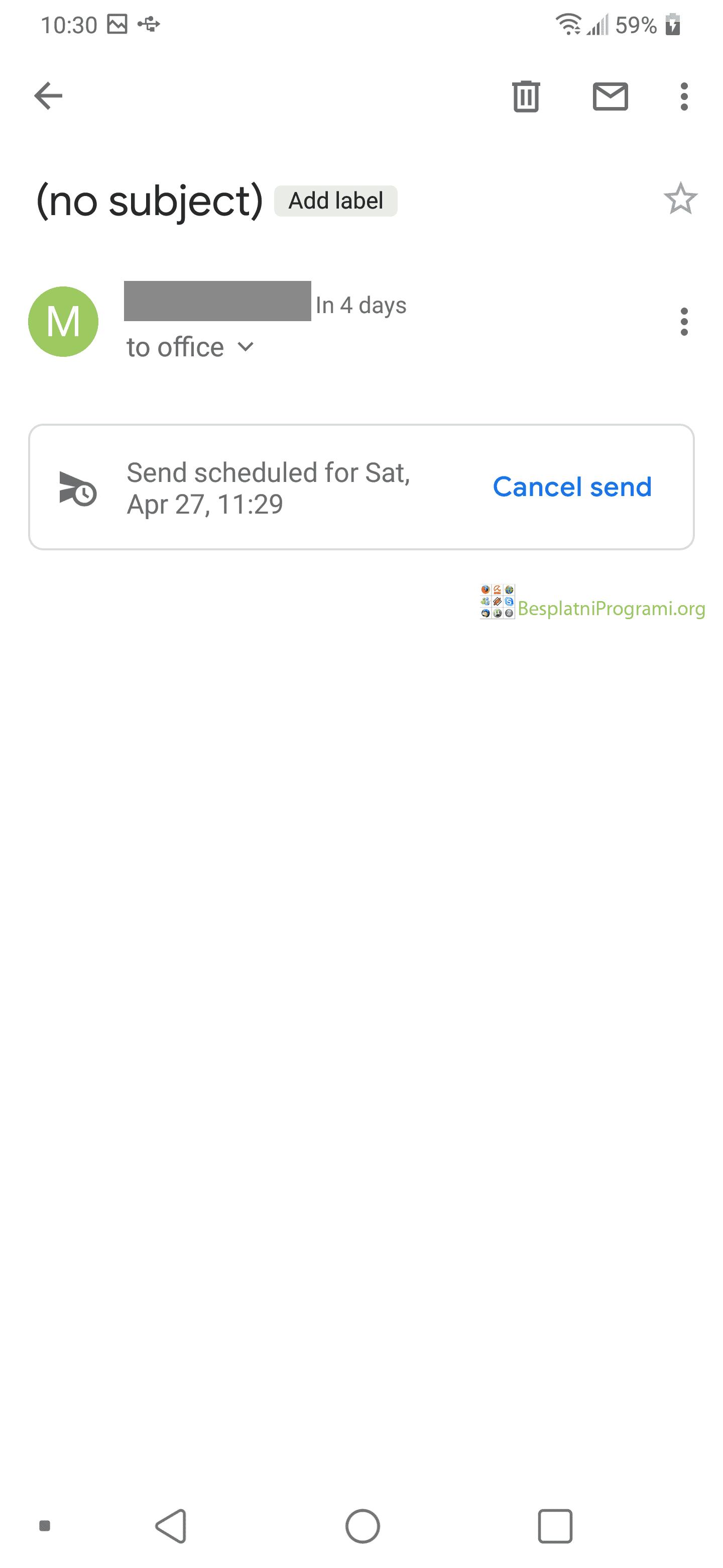 Gmail Android zakaži slanje mejla otkaži